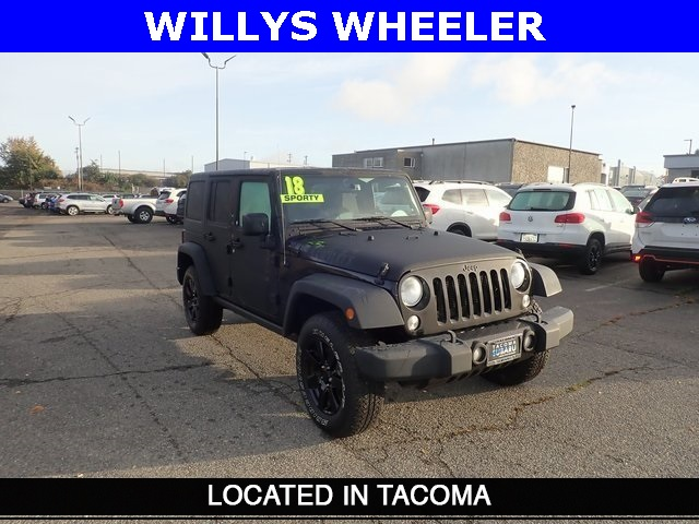 Pre-Owned 2018 Jeep Wrangler JK Unlimited Willys Wheeler