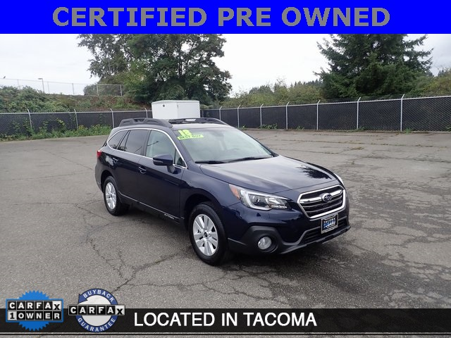 Subaru Certified Pre Owned >> Certified Pre Owned 2018 Subaru Outback 2 5i Awd